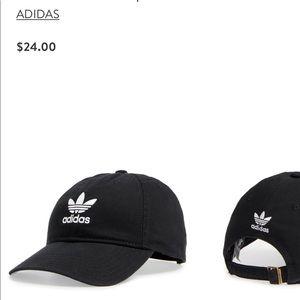 Adidas Black Trefoil Baseball Cap